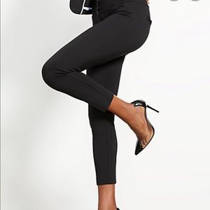 New York & Company Black Stretch ankle slit pant